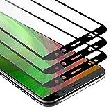 Cadorabo 3X Vollbild Panzerglasfolie für Huawei Mate 10 LITE - Schutzfolie in TRANSPARENT mit SCHWARZ - 3er Pack Gehärtet (Tempered) Bildschirmschutz Glas in 9H Festigkeit mit 3D Touch