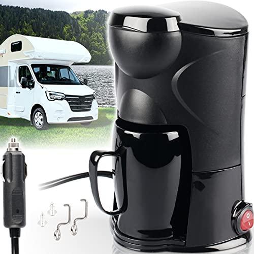 Reise - Kaffeemaschine 12 V 125 ml für Auto LKW Camper oder Boot mit Kaffeebecher und Anschluss für Zigarettenanzünder