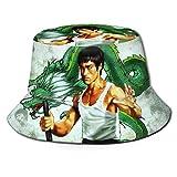 Sombrero de Pescador Bruce-Lee Sombrero para el Sol - Protección Ultravioleta y Transpirable Gorra de Cubo de ala Ancha para Exteriores