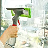 Fast Deal 3 in 1 Plastic Easy Glass Spray Type Cleaning Brush Wiper