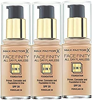 A Set Of 3 Max Factor Foundation 3in1 Porcelain