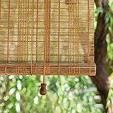 LHF123 Natural Persiana Enrollable De Bambú,Cortina Estor Enrollable de Bambú,Tasa De Sombreado 45%, para la Decoración de Particiones Domésticas,Personalizable (80x120cm/32x47in)