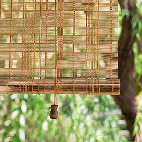 LHF123 Natural Persiana Enrollable De Bambú,Cortina Estor Enrollable de Bambú,Tasa De Sombreado 45%, para la Decoración de Particiones Domésticas,Personalizable (100x120cm/39x47in)