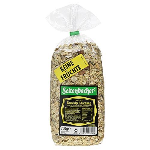 Seitenbacher Müsli Knackige Mischung - ohne Früchte, 750 g.