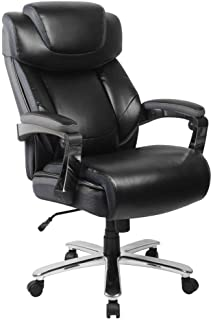 Flash Furniture HERCULES Series Big & Tall 500 lb. Rated Black LeatherSoft Executive Swivel Ergonomic Office Chair with Adjustable Headrest
