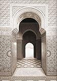 QWEWQE leinwandbild, Marokko Tür Kamel Wüste Kokospalme