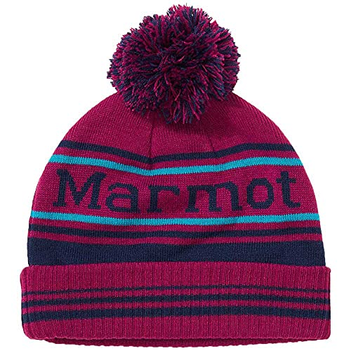 Marmot Retro Pom Bonnet Homme, Rose Sauvage/Bleu Marine Arctique, One