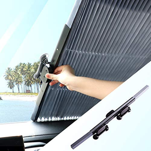 Retractable Windshield Sun Shade Keep Vehicle Cool Block UV Rays Sun Visor Protector Universal product image
