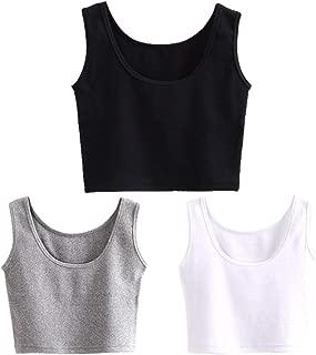 Women's Short Yoga Dance Athletic Tank Tops Shirts Pack of 3