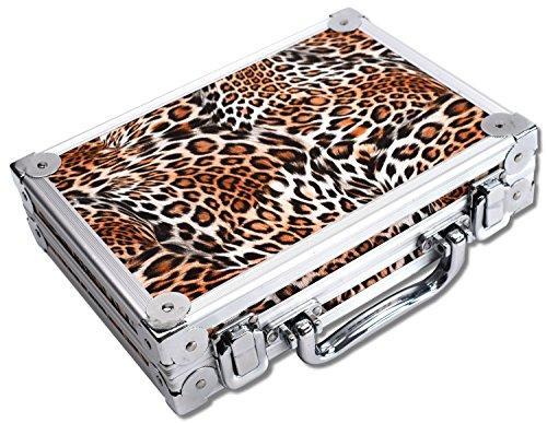 WINMAU Dartkoffer Luxus, Farbe Alu Leopard