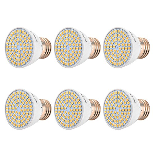 LED-lampen spaarlamp E26 / E27 medium standaard, komt overeen met 5W, 50W halogeen vervanglamp LED schijnwerper AC 110-130V (6 stuks)