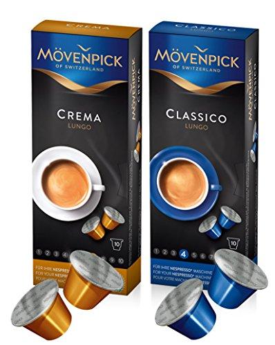 "MÖVENPICK Kaffeekapsel Set für ""Kaffee-Fans"" mit 2 Sorten (60 Kapseln insgesamt)"
