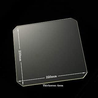 Polished Chamfer Borosilicate Glass Build Plate/Bed 220mm x 220mm x 4mm Glass Bed for MK2/MK2A,Wanhao Duplicator i3, Anet A8, Anet A6, MP Maker Select Reprap 3D Printer (220x220x4mm Chamfer)