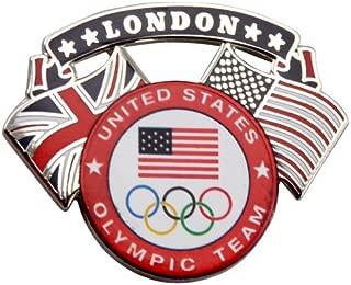 London 2012 Team USA Olympic Team Dual Flag Pin