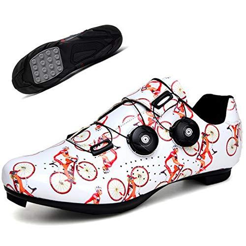 AGYE Zapatillas Bicicleta, Calzado de Ciclismo para Hombre,Zapatos de Bicicleta de Montaña...