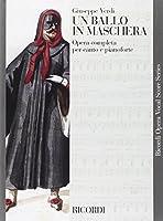 Partitions classique RICORDI VERDI G. - UN BALLO IN MASCHERA - CHANT ET PIANO Choeur et ensemble vocal