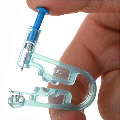Ohr durchstöße Werkzeug --Gesunde Sicherheit Asepsis Einweg Body Piercing Ohr Gun Werkzeug mit Ohr Ohrstecker Pierce Kit für Körper (blau)
