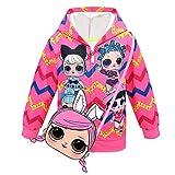 ALAMing LOL Surprise Kapuzenjacke, modisch, bedruckt, für Mädchen, Herbst-,Wintermantel, Jacke, Kinderbekleidung Gr. 7-8 Jahre, Stil 25