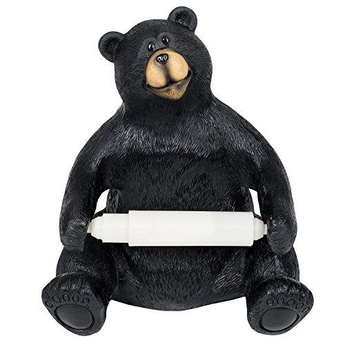 Slifka Sales Company 8.5 Inch Sitting Bear Resin Tabletop Toilet Paper Holder
