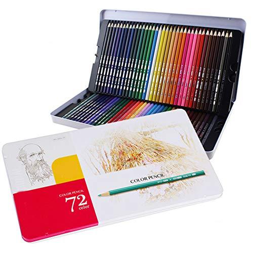 Lapices Colores BLTLYX 72 Colores Caja De Hierro Color Lápiz Óleo Lápices Arco Iris Para Colorear Dibujo Lápices 178 * 8MM 72 colores Caja de hierro