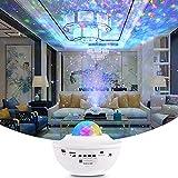 TYCOLIT Proyector LED de cielo estrellado, proyector de luz nocturna con rotación de 360, reproductor de música Bluetooth, mando a distancia, temporizador, perfecto para habitaciones infantiles