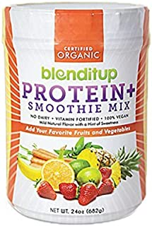 Organic Vegan Protein Powder - Plant Based Unflavored Smoothie Mix - Meal Replacement - Non Dairy, Gluten Free, Kosher, No...
