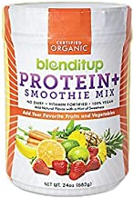 product image for Organic Vegan Protein Powder - Plant Based Unflavored Smoothie Mix - Meal Replacement - Non Dairy, Gluten Free, Kosher, Non-GMO with Soy Protein Isolate - 24 Oz by BlendItUp