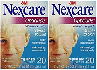 featured product Nexcare Opticlude Orthoptic Eye Patches, Regular Size, 20-Count (Pack of 2) by Nexcare