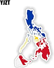 8.4CM13.5CM Philippines Map Flag Car Sticker Decal Motorcycle Helmet Accessories 6-1547