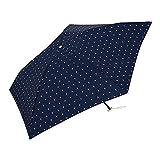 ワールドパーティー(Wpc.) 雨傘 折りたたみ傘 ネイビー 50cm 超軽量90g ツインハート ミニ AL-006 NVツインハート ネイビー50cm(親骨)