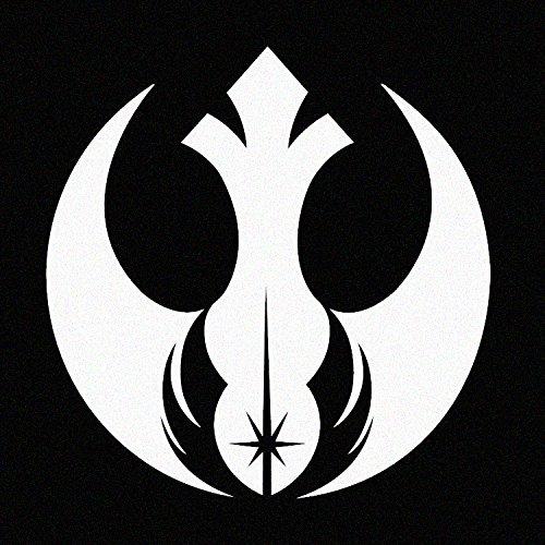 Stick'emAll Rebel Alliance Jedi Order (Star Wars Inspired) - White Vinyl Decal (White)