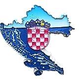 3D-Kühlschrankmagnet, Kroatien-Karte, Souvenir, Heim- und Küchendekoration, Magnetaufkleber, Kroatien, Kühlschrankmagnet, Reise-Souvenir, Geschenk