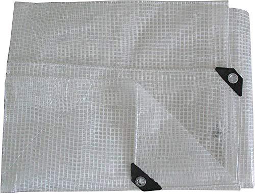 Tarpaulin Strengthened Waterproof Heavy Duty - Clear Tarp Sheet - Premium Quality Cover Made of 100gram/sm Reinforcing Mesh ([m] 8 x 10 || 26' x 33')
