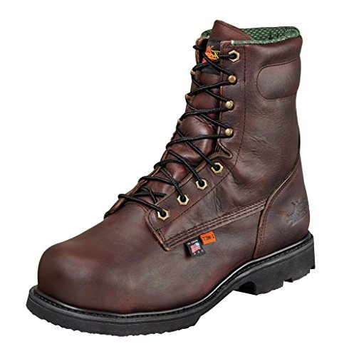 Thorogood Mens Work Boots Brown Leather 8in I-Met Emporer Safety Toe 8 2E