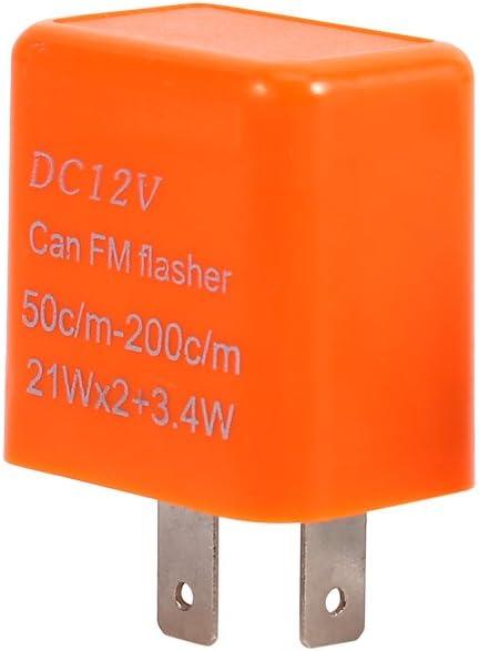 LED-Blinkerrelais mit einstellbarer Geschwindigkeit f/ür Motorr/äder 12-V-2-poliges Universal-Blinkerrelais f/ür LED-Blinker mit Motorrad BLACK