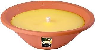 Spaas Citronella Garden Candle Royal Flame en terracota, ± 13 horas, amarillo