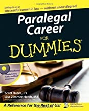 Paralegal Career For Dummies Pap/Cdr Edition by Hatch, Scott, Hatch, Lisa Zimmer published by John Wiley & Sons (2006)