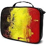 Bandera de Bélgica Negro Amarillo Rojo (2) Bolsa de Maquillaje Estuche cosmético portátil Organizador cosmético de Gran Capacidad Durable