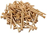 Wedge Guys 500 Count Professional Bamboo Golf Tees 2-3/4 inch - Free Poker Chip Ball Marker - Stronger Than Wood Tees Biodegradable & Less Friction PGA Approved