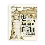 LTXMZ Vintage Bibel Vers Zitat Poster Kunstdruckt