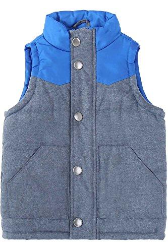 Bienzoe Bienzoe Baby Gesteppte ärmellose warme Baumwolle Weste Blau Größe 12M