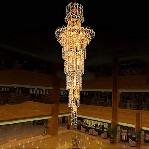 BAIJJ Casa duplex woonkamer draaibare ladder, kandelaar lange kandelaar in Europese stijl VillaE14 x 6 A +