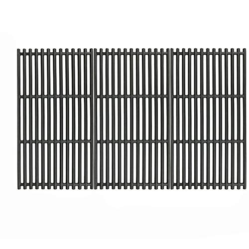 Uniflasy 17 Inches Matte Cast Iron Cooking Grid Grates for Charbroil 463242715, 463242716, 463276016, 466242715, 466242815, G533-0009-W1, Lowe's 606682, Walmart 555179228 Gas Grills, Set of 3