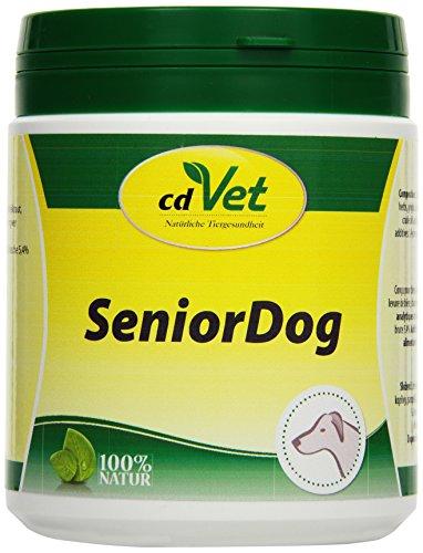 cdVet Naturprodukte SeniorDog 250 g - Hund - Ergänzungsfuttermittel - Defizite - Kräuter + Vitamine + Eisen - Lustlosigkeit - nach Krankheit + Operation - mangel an Agilität - bei älteren Tieren -