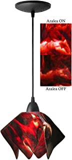 product image for Jezebel Signature Flame Pendant Small. Hardware: Black. Glass: Azalea