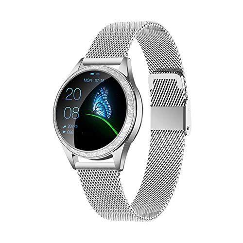ADH Nuevo Reloj Inteligente Ladies IP68 Impermeable Pulsera Linda Monitor De Ritmo Cardíaco Monitoreo De Sueño Monitoreo Inteligente Connect iOS Android KW20,A