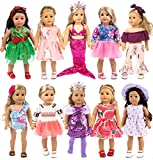 ebuddy 10-Sets Fashion Doll Clothes and Accessories with Popular Elements Horn...