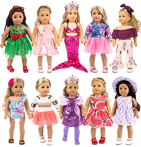 ebuddy 10-Sets Fashion Doll Clot...