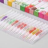 Aceite para Cuticulas,Anself 15 piezas Cutícula Remover Pen Nail Aceite de Arte Polaco Bolígrafo Prevenir Uña