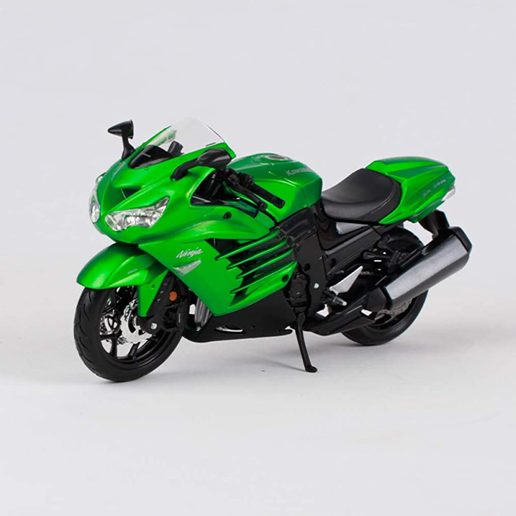 CHEMOXING Green Motorcycle Diecast Metal Model Kit Manual Assemble Motorbike Toy for Collecting